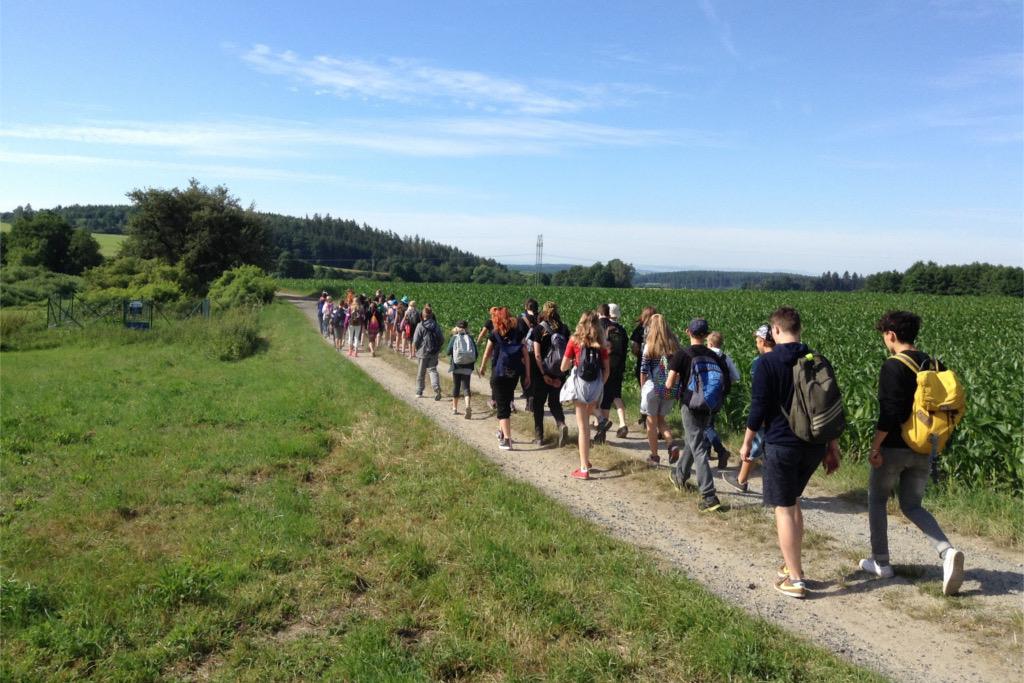Celodenní výlet - cesta z tábora na vlak do Blatné